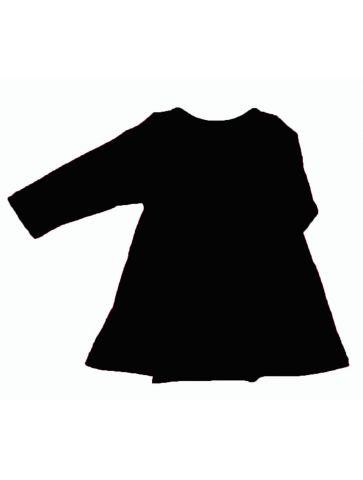 Vestido manga corta Negro