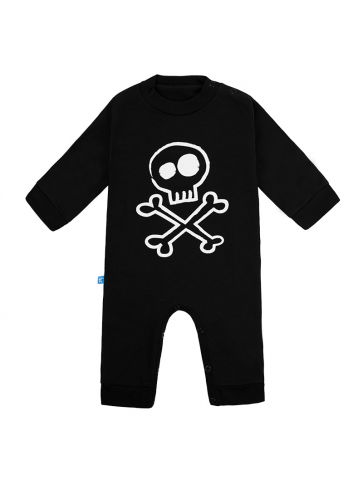 Rompers fleece trick Black