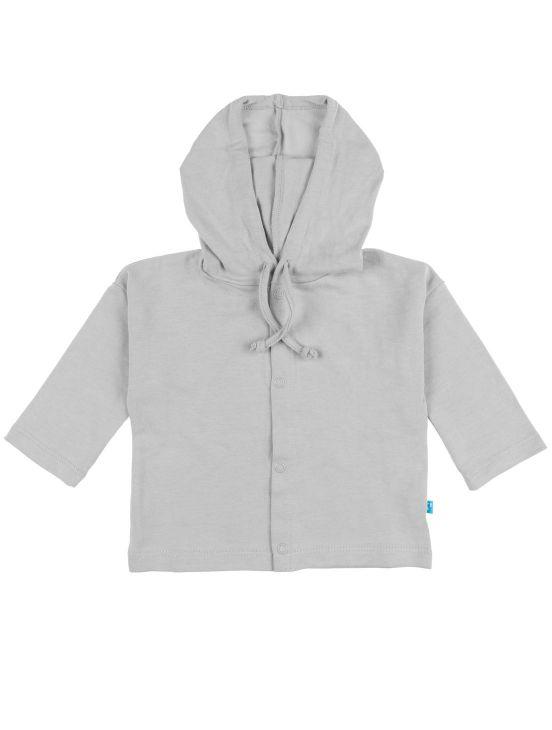 Veste à capuche en coton Gris clair