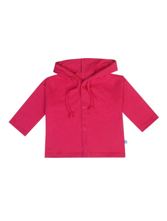 Chaqueta capucha algodón Fúcsia