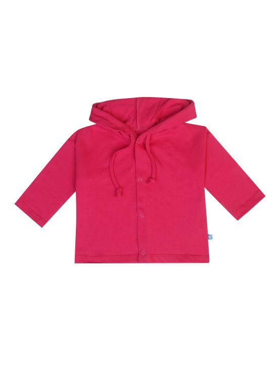 Veste à capuche en coton Fuchsia