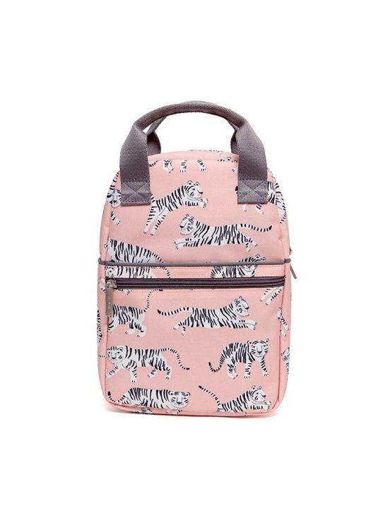 Mini mochila tigre Rosa claro