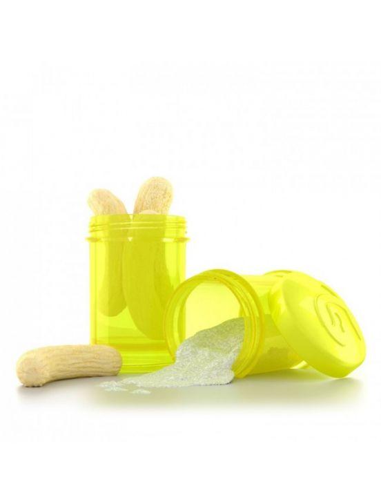 Twistshake dosificador 2x100 ml Amarillo