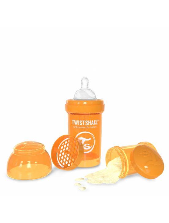 Twistshake biberón anticólico 180 ml Naranja