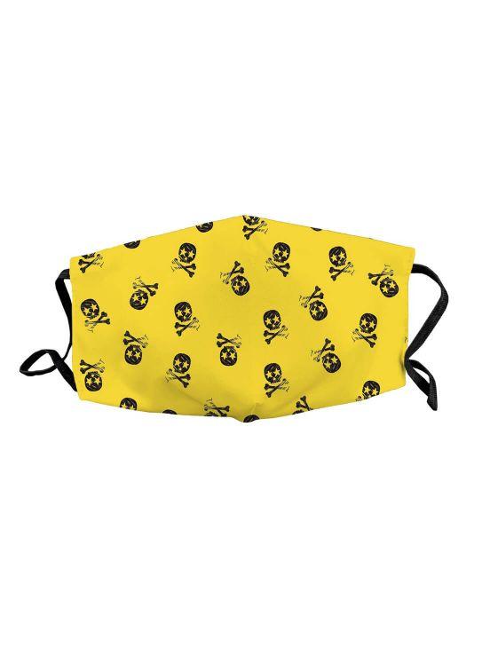 Máscara infantil skull Amarelo