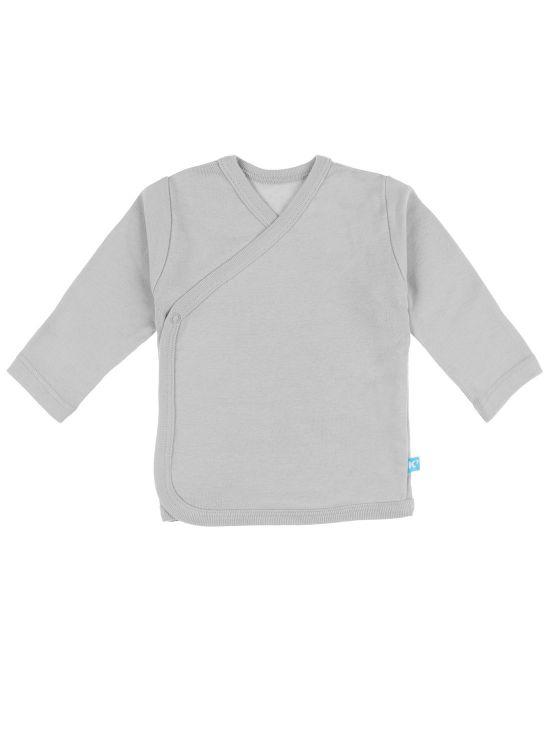 Camiseta cruzada m-l Gris claro