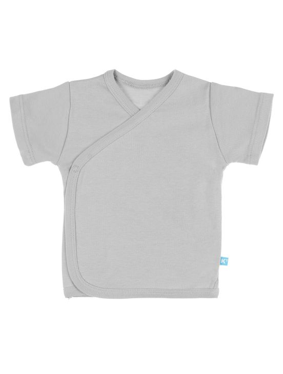 Camiseta cruzada manga corta Gris claro