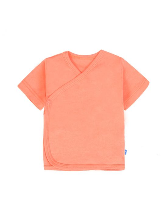 Camiseta cruzada manga corta Coral
