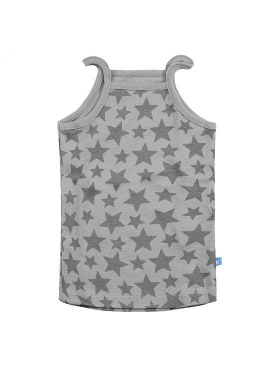Camiseta tirantes stars Gris claro