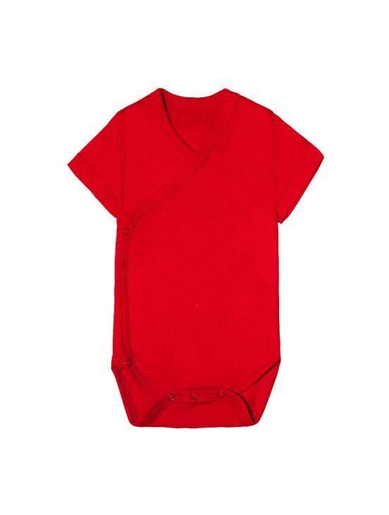Body cruzado manga corta Rojo