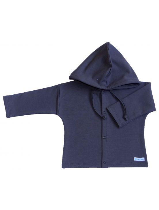 Chaqueta capucha felpa Cinza escuro