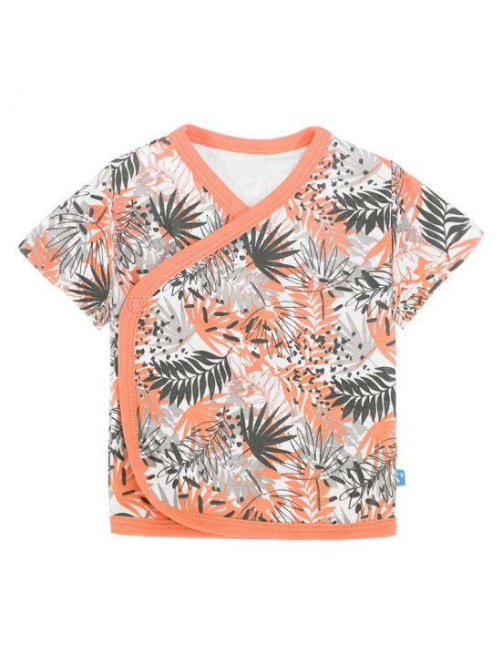 Camiseta cruzada manga corta kailua Coral