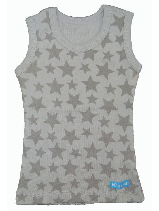 Camiseta sin mangas stars Cinzento claro