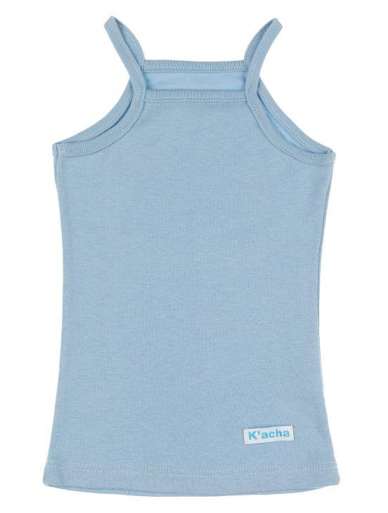 T-shirt cinghie Luce blu