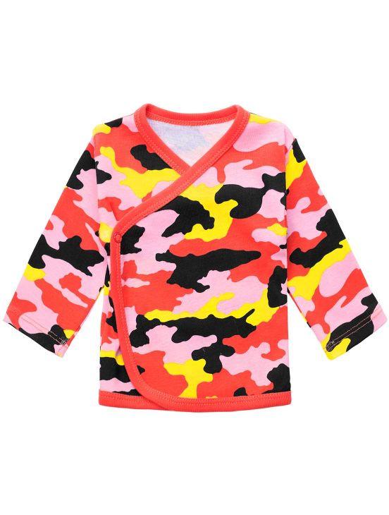 Camuflagem ml wrap t-shirtNew coral