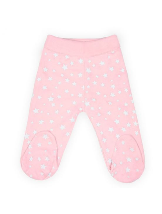 Leggings de bebê estrelaRosa claro