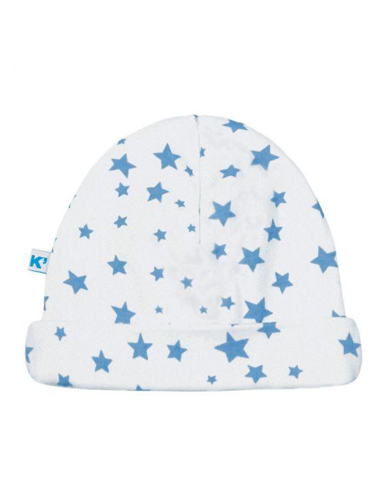 Chapéu estrela de bebêAzul claro