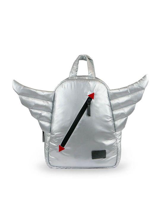 Mini mochila wingsCinzento claro